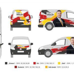 Weiler Albert CDU VW Caddy NEU